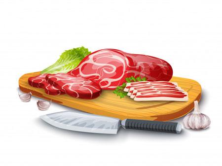 culinary art meat board